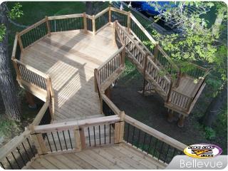 Curvy layout of Cedar Deck