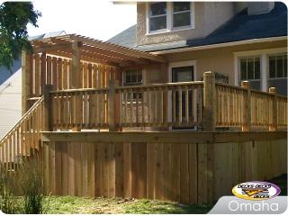 Cedar deck with Pergola