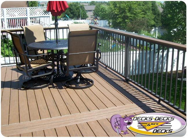 Low maintenance photo gallery decks decks and more for Low maintenance deck plants