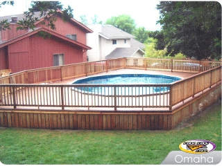 Mixed pool deck