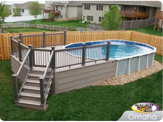 Trex Pool deck