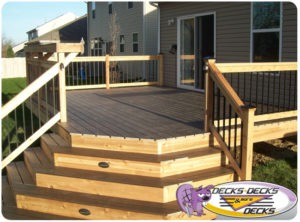 Omaha Custom Deck with Mixed Material