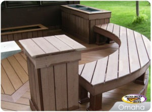 custom deck bench