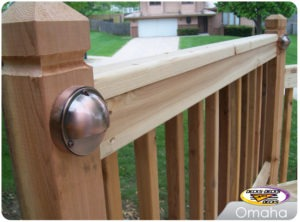 Low voltage deck lighting for omaha custom decks.