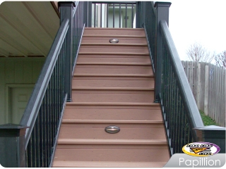 Staircase with Low Voltage Lighting