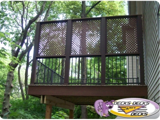 privacy screen wall fence deck omaha