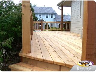 All Cedar deck