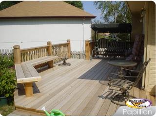 Cedar Decks with benches