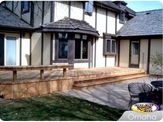 Cedar deck and bench