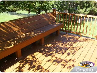 Low Maintenance deck with Bench