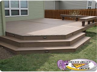 benches lights deck builder omaha