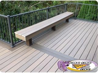 deck bench railing aluminum azek