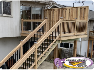 Cedar Privacy fence Deck omaha
