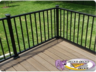 Trex TimberTech Brown deck Omaha Lights