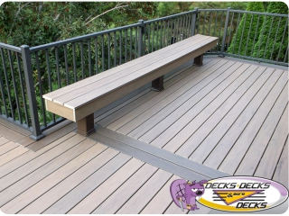 deck bench railing aluminum azek