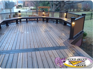 lights decks timbertech trex azek omaha nebraska