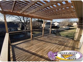 Arbors & Pergolas in Omaha area deck project