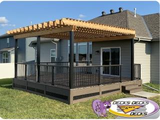Pergola arbor deck project Nebraska