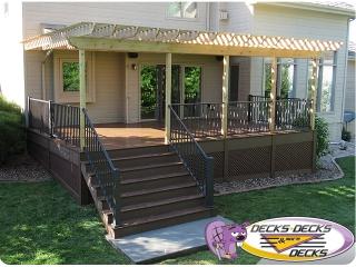 omaha deck pergola aluminum outdoor