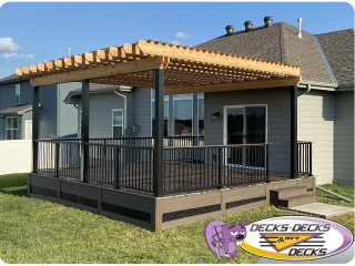 Pergola arbor deck project Nebraska