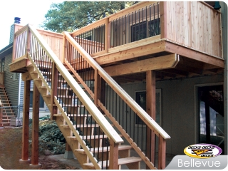 Cedar deck and balusters