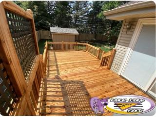 Cedar wood deck Omaha multi levels