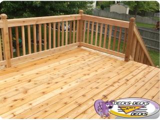 cedar wood ipe hardwood deck omaha