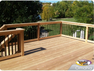 Cedar Deck with Handrailing
