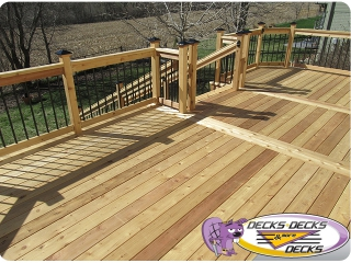 Cedar wood deck builder papillion nebraska