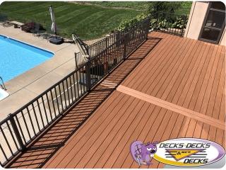 Azek TimberTech decking and aluminum railing Omaha deck