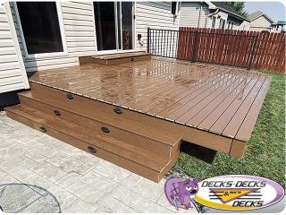 Fanned out deck platform