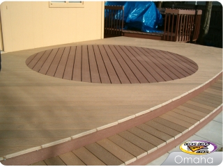 Composite two-toned deck