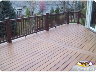 TimberTech deck with low voltage lighting