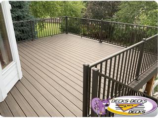 Aluminum deck railing Omaha