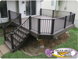 Aluminum railing decks la vista bellevue