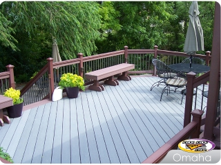 Composite decking with low voltage lights