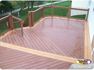 Radiance railing on TimberTech deck