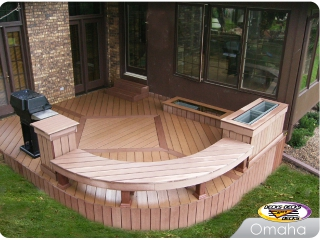 Composite deck with planters