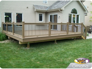 TimberTech deck with Spindle Balusters