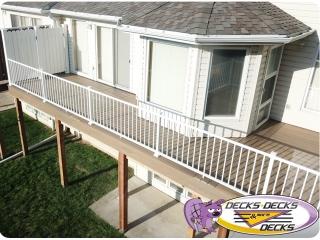 Privacy deck fence Omaha