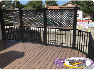 Privacy screen deck fence Omaha