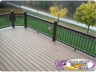 Trex timbertech railing omaha deck