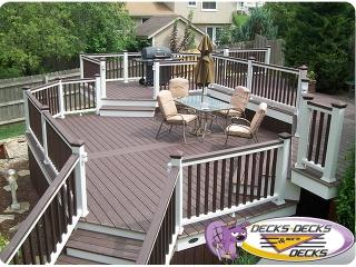 multi level deck tiers decks omaha