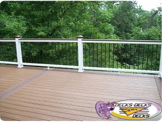 trex timbertech azek omaha decks deck more decks