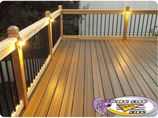 Cedar Balusters Lights Decks Omaha