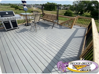 Mixed Composite deck and Cedar