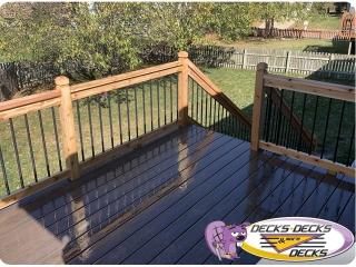 Mixed composite and cedar deck la vista