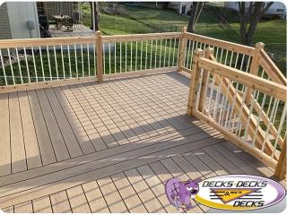 White aluminum railing deck omaha
