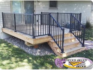 mixed aluminum railings cedar decking omaha