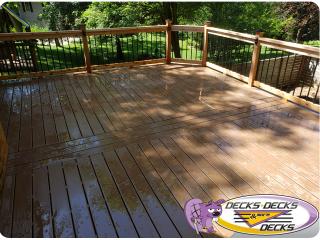 Backyard oasis deck project